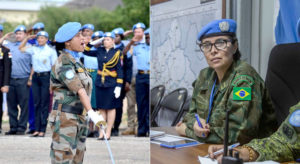 Women peacekeepers from Brazil and India share UN military gender award |