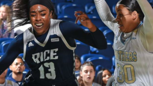 Erica Ogwumike has been drafted into the WNBA – but is also a medical student in the US.