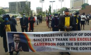 Academic doctors of shame? Cameroonians weep as PHD holders march to celebrate recruitment