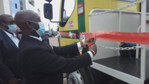 HYSACAM presents a brand new truck to Buea council