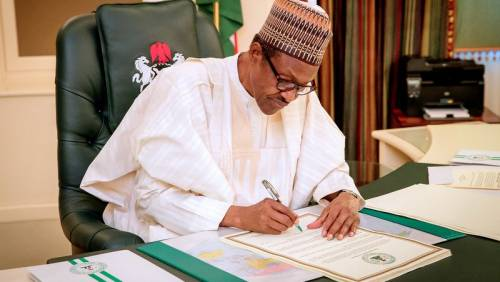 Buhari Signs Amended Companies And Allied Matters Bill Into Law