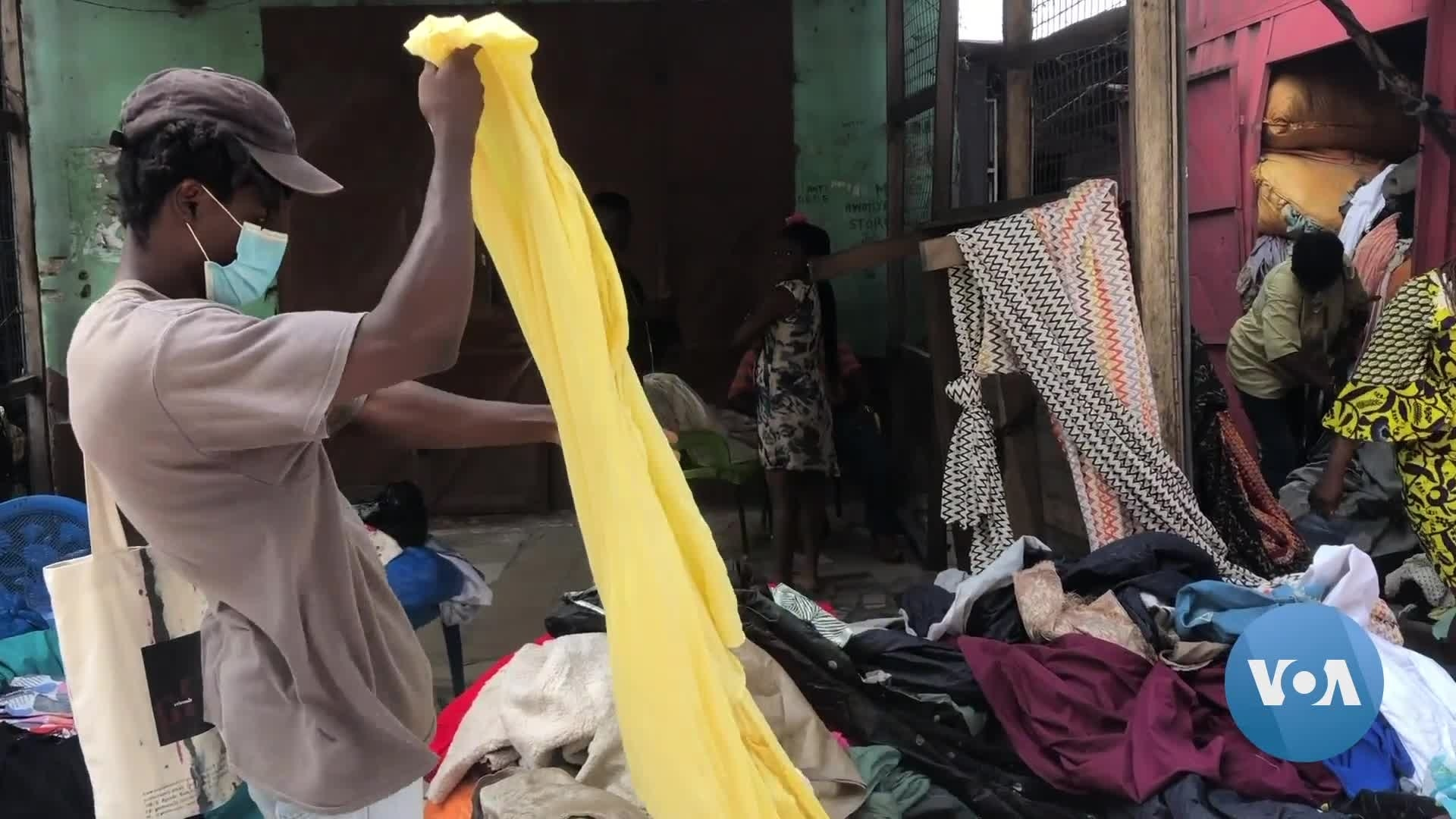 Ghana's Used Clothing Market Falters as COVID Bans, Poverty Intersect | Voice of America