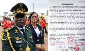 "Brigadier General Nka Valere announces operation ""Bamenda clean"""