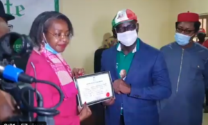 BREAKING: INEC Presents Certificate Of Return To Obaseki