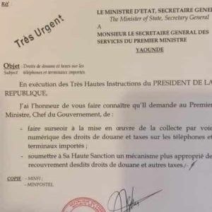 Just in: President Biya 'cancels' controversial phone tax