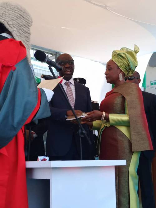 Read more about the article Edo Governor, Obaseki, Deputy Inaugurated For Second Term