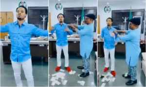Abia Governor Suspends Chief Of Staff Agbazuere After Spraying Cash On Controversial Pastor Odumeje