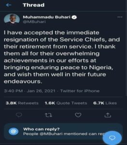 Again, Buhari Blocks Nigerians From Commenting On His Twitter Posts