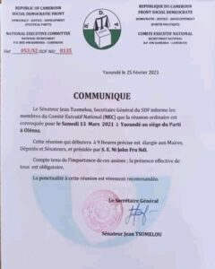 Fru Ndi Summons  party Bigwigs as Osih and Nintcheu Wrestle in the 'Streets'