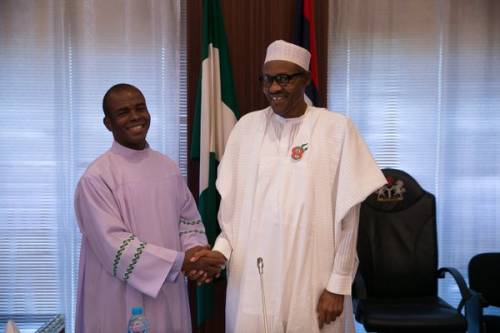 BREAKING: Father Mbaka Asked Buhari For Contracts As Compensation But Was Rebuffed— Presidency